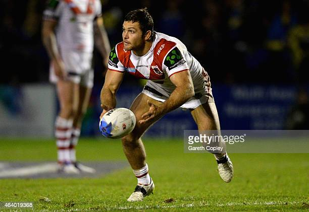 Mitch Rein of St George Illawarra Dragons in action during the World Club Series match between Warrington Wolves and St George Illawarra Dragons at...