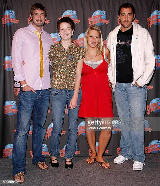 """Mitch Reinholdt, Hannah Bailey, Megan Krizmanich and Colin Clemens of the documentary """"American Teen"""" make an appearance at Planet Hollywood in Times..."""