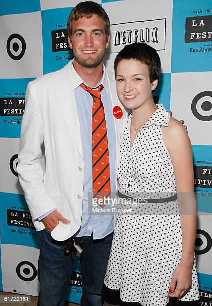 Mitch Reinholt and Hannah Bailey attend the 2008 Los Angeles Film Festival's American Teen at Ford Amphitheatre on June 25, 2008 in Westwood,...