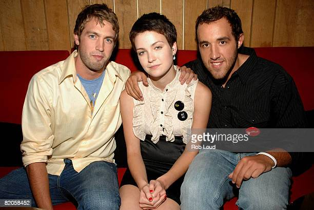 """Mitch Reinholt, Hannah Bailey, and Colin Clemens attend Paramount Vantage's """"American Teen"""" after party at Pop Burger on July 24, 2008 in New York..."""