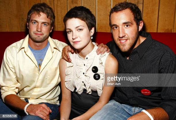 """Mitch Reinholt, Hannah Bailey, and Colin Clemens attends the after party for """"American Teen"""" at Pop Burger on July 24, 2008 in New York City."""