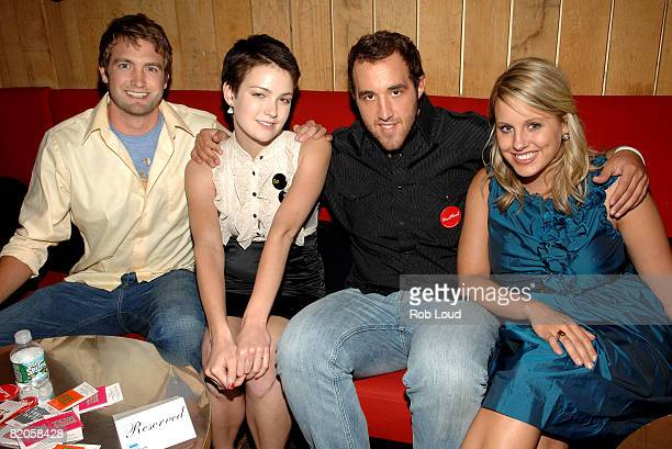 """Mitch Reinholt, Hannah Bailey, Colin Clemens, and Megan Krizmanich attend Paramount Vantage's """"American Teen"""" after party at Pop Burger on July 24,..."""