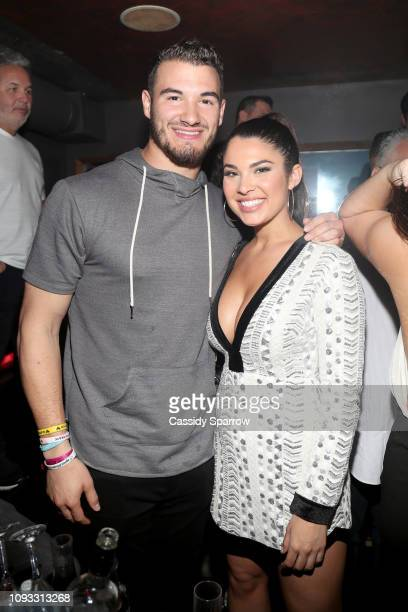 Mitch Trubisky and guest attend TAO Group's Big Game Takeover presented by Tongue Groove on February 2 2019 in Atlanta Georgia