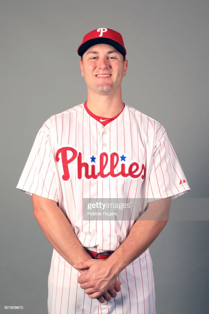Mitch Walding #83 of the Philadelphia Phillies poses during Photo Day on Tuesday, February 20, 2018 at Spectrum Field in Clearwater, Florida.