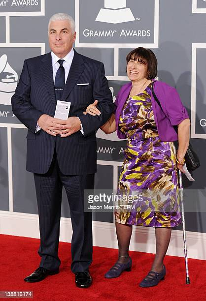 Mitch Winehouse and Janis Winehouse arrive at the 54th Annual GRAMMY Awards held at Staples Center on February 12 2012 in Los Angeles California