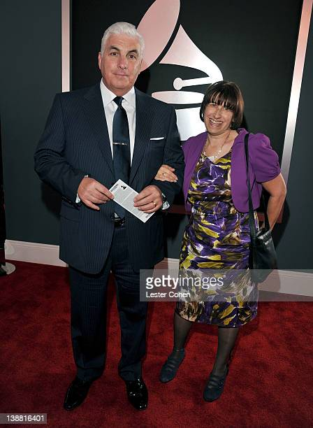 Mitch Winehouse and Janis Winehouse arrive at The 54th Annual GRAMMY Awards at Staples Center on February 12 2012 in Los Angeles California