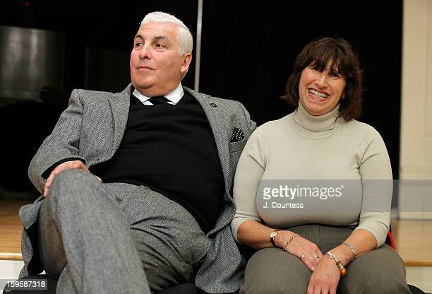 Mitch Winehouse and Janis Winehouse attend a grant award presentation by the The Amy Winehouse Foundation at the Brooklyn Conservatory of Music on...