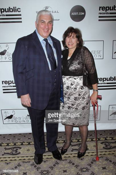 Mitch Winehouse and Janis Winehouse Collins attends the 2013 Amy Winehouse Foundation Inspiration Awards and Gala at The Waldorf=Astoria on March 21...