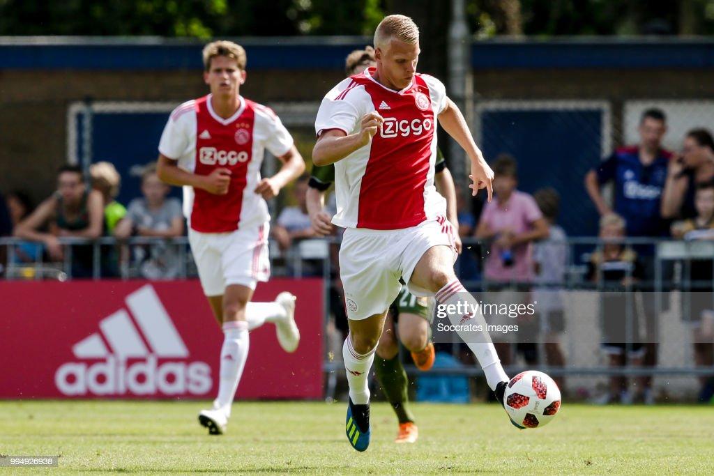 Mitchel Bakker of Ajax during the Club Friendly match between Ajax v FC Nordsjaelland at the Sportpark Putter Eng on July 7, 2018 in Putten Netherlands