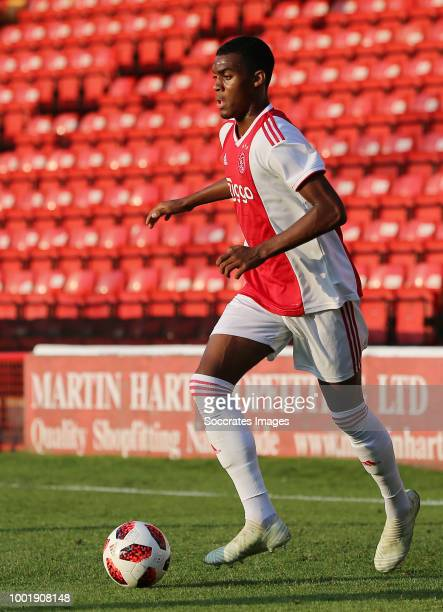 Mitchel Bakker of Ajax during the Club Friendly match between Walsall FC v Ajax at the Bescot Stadium on July 19 2018 in Walsall United Kingdom