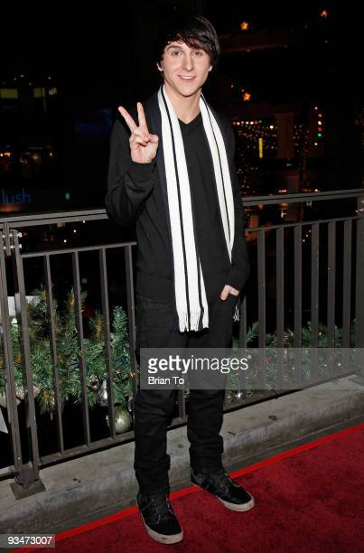 Mitchel Musso attends the 'Holiday Of Hope' TreeLighting Celebration And Benefit at Hollywood Highland Courtyard on November 28 2009 in Hollywood...
