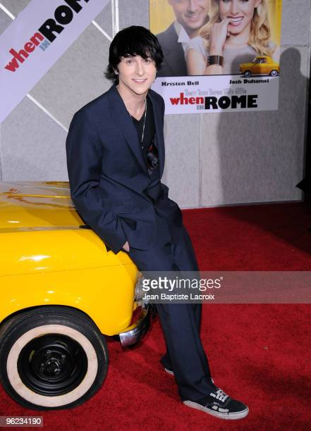 Mitchel Musso attends the 'When In Rome' Los Angeles Premiere at the El Capitan Theatre on January 27 2010 in Hollywood California