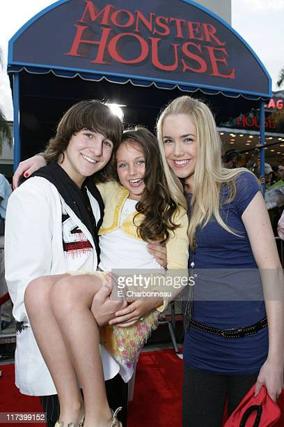 Mitchel Musso Ryan Newman and Spencer Locke during Los Angeles Premiere of Columbia Pictures 'Monster House' at Mann Village in Westwood California...