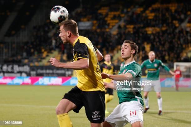 Mitchel Paulissen of Roda JC during the Dutch Keuken Kampioen Divisie match between Roda JC v FC Dordrecht at the Parkstad Limburg Stadium on...