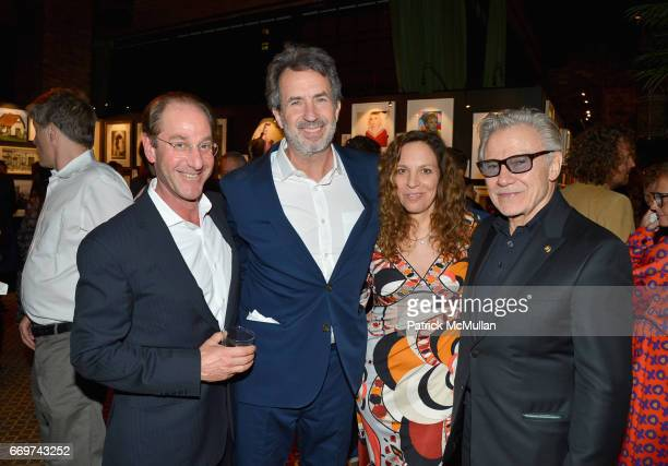 Mitchell Axe Eric Goode Daphna Kastner and Harvey Keitel attend The Turtle Conservancy's 4th Annual Turtle Ball at The Bowery Hotel on April 17 2017...