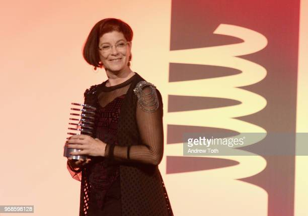 Mitchell Baker accepts the Lifetime Achievement award onstage at The 22nd Annual Webby Awards at Cipriani Wall Street on May 14 2018 in New York City