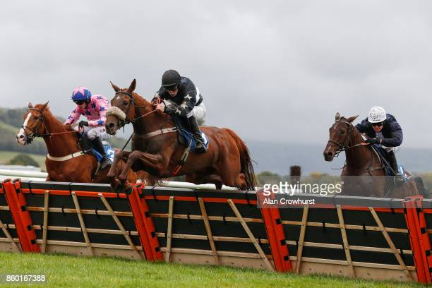 Mitchell Bastyan riding Still believing clear the last to win The Welsh Borders Area Point to Point Awards 2017 Mares' Handicap Hurdle Race at Ludlow...
