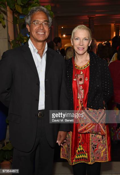 Mitchell Besser and Annie Lennox attend a private view of 'Frida Kahlo Making Her Self Up' at The VA on June 13 2018 in London England