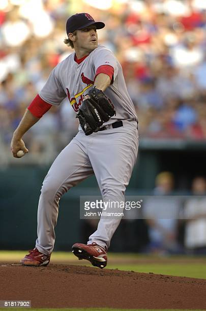 Mitchell Boggs of the St. Louis Cardinals pitches during the game against the Kansas City Royals at Kauffman Stadium in Kansas City, Missouri on June...