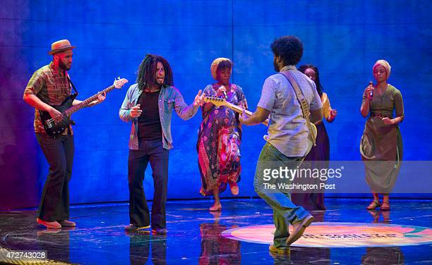 Mitchell Brunings portrays the musician Bob Marley in the musical Marley at Center Stage in Baltimore Maryland on May 01 2015 We take an advanced...