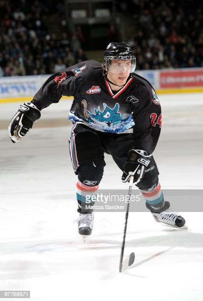 Mitchell Callahan of the Kelowna Rockets skates against the Prince George Cougars at Prospera Place on March 13 2010 in Kelowna Canada