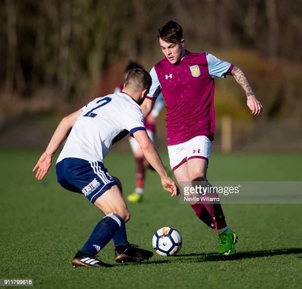 Mitchell Clark of Aston Villa during the Premier League 2 match between Aston Villa and Middlesbrough at Bodymoor Heath on January 29, 2018 in...