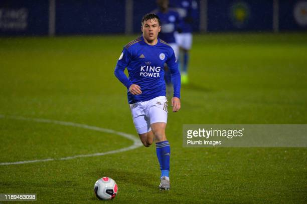 Mitchell Clark of Leicester City during the Leicester City U23 v Villarreal B PL International Cup at Holmes Park on December 18th 2019 in Leicester...