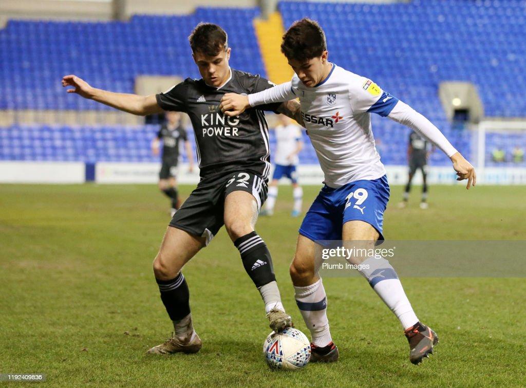 Tranmere Rovers v Leicester City U21s - Leasing.com Trophy: Third Round : News Photo