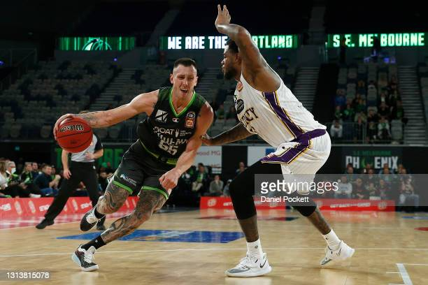Mitchell Creek of the Phoenix drives to the basket during the round 15 NBL match between the South East Melbourne Phoenix and the Sydney Kings at...