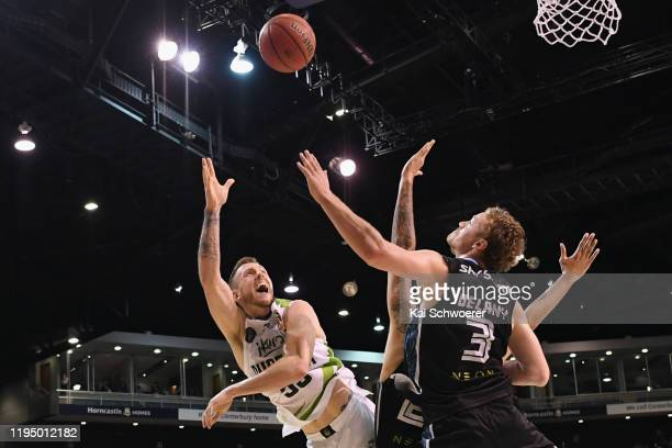 Mitchell Creek of the Phoenix shoots the ball during the round 12 NBL match between the New Zealand Breakers and the South East Melbourne Phoenix at...