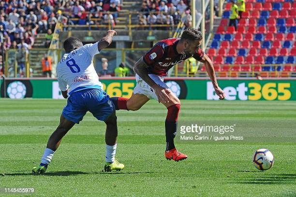 Mitchell Djiks of Bologna FC in action during the Serie A match between Bologna FC and Empoli at Stadio Renato Dall'Ara on April 27 2019 in Bologna...
