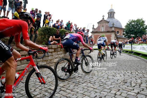 Mitchell Docker of Australia and Team EF Education First / Aime De Gendt of Belgium and WantyGobert Cycling Team / Wall of Geraardsbergen / De Muur /...