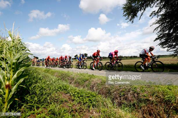 Mitchell Docker of Australia and Team EF Education First / Davide Ballerini of Italy and Astana Pro Team / Florian Senechal of France and Team...