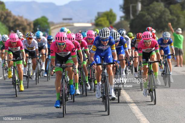 Mitchell Docker of Australia and Team EF Education First Drapac P/B Cannondale / Pieter Serry of Belgium and Team QuickStep Floors / during the 73rd...