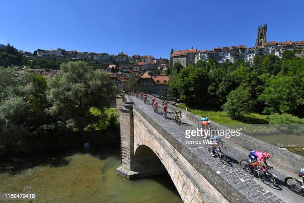 Mitchell Docker of Australia and Team EF Education First / Fribourg City / Peloton / Landscape / Bridge / during the 83rd Tour of Switzerland, Stage...