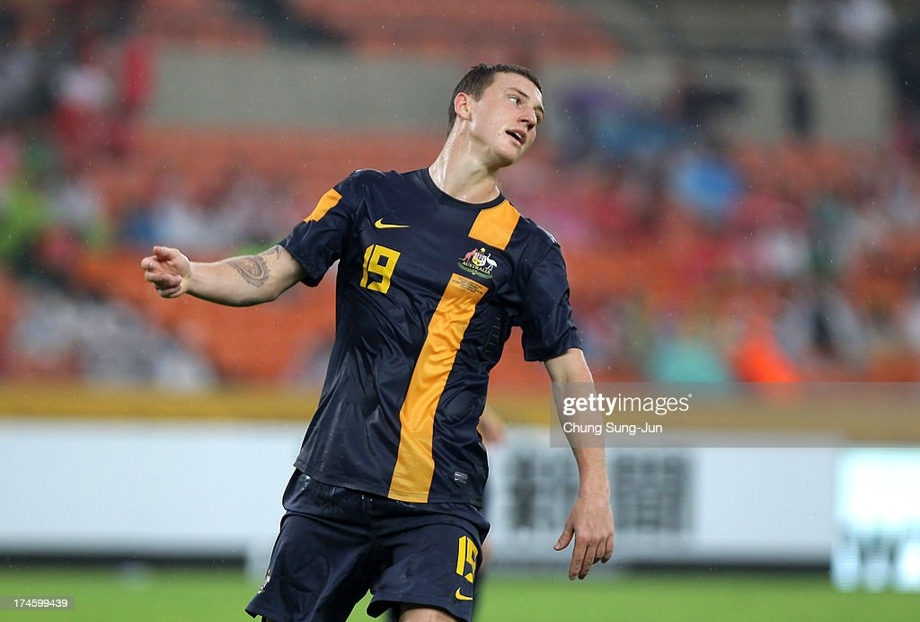 Mitchell Duke of Australia reacts during the EAFF East Asian Cup match between Australia and China at Jamsil Stadium on July 28, 2013 in Seoul, South Korea.