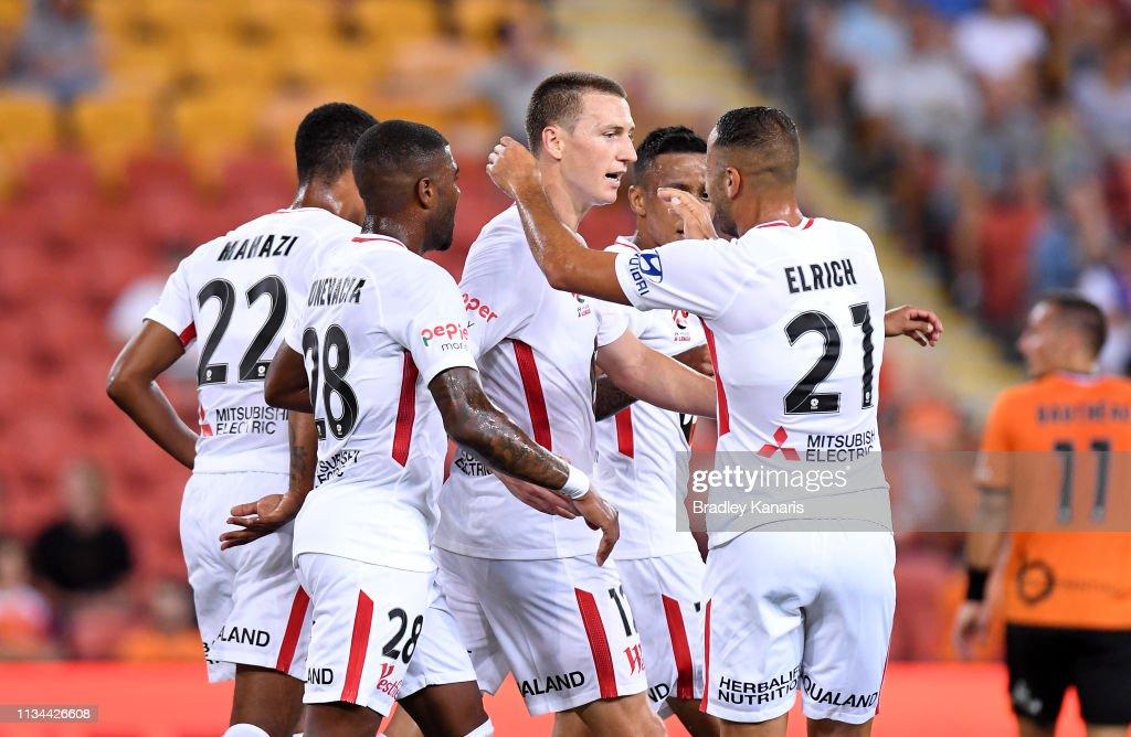 A-League Rd 21 - Brisbane v Western Sydney : News Photo