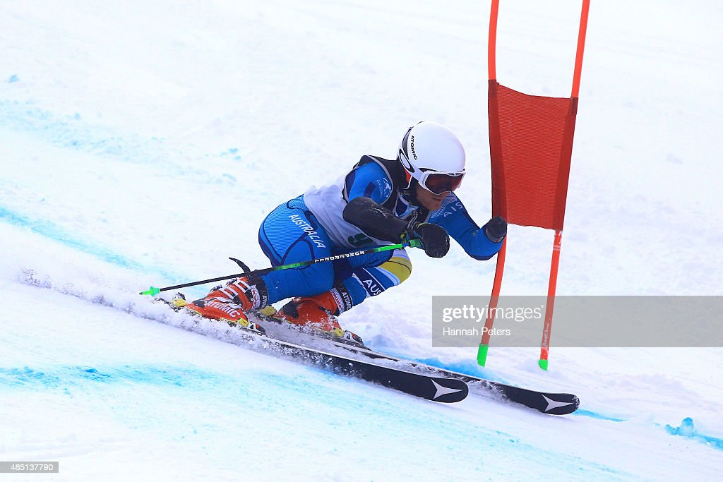Mitchell Gourley of Australia competes in the Men Giant Slalom Standing L6/8-2 in the IPC Alpine Adaptive Giant Slalom Southern Hemisphere Cup during the Winter Games NZ at Coronet Peak on August 25, 2015 in Queenstown, New Zealand.