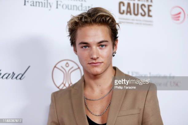 Mitchell Hoog attends the Rebels With A Cause Gala 2019 at Lawrence J Ellison Institute for Transformative Medicine of USC on October 24 2019 in Los...