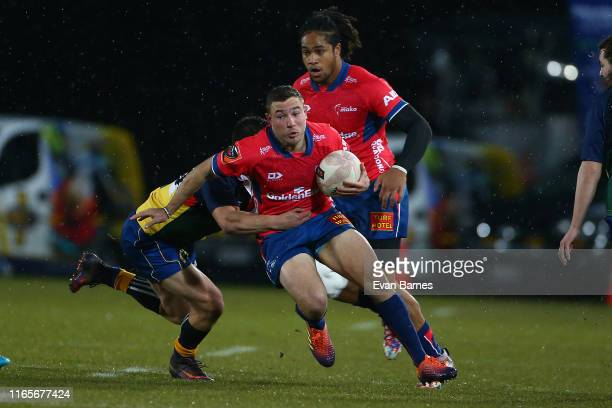 Mitchell Hunt during the Mitre 10 Cup preseason match between Tasman and Otago at Trafalgar Park on August 02 2019 in Nelson New Zealand