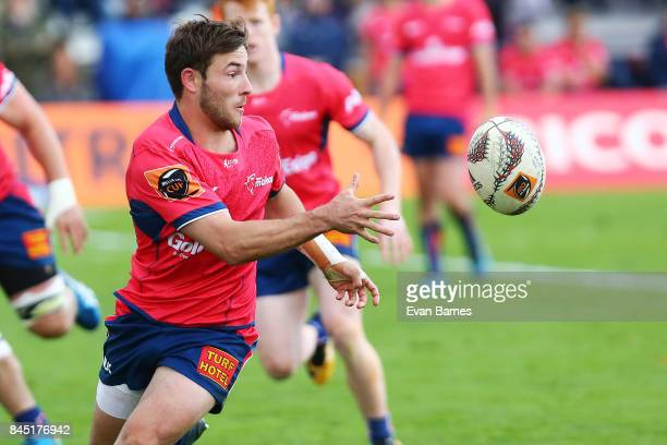 Mitchell Hunt of Tasman during the round four Mitre 10 Cup match between Tasman and Wellington at Lansdowne Park on September 10 2017 in Blenheim New...