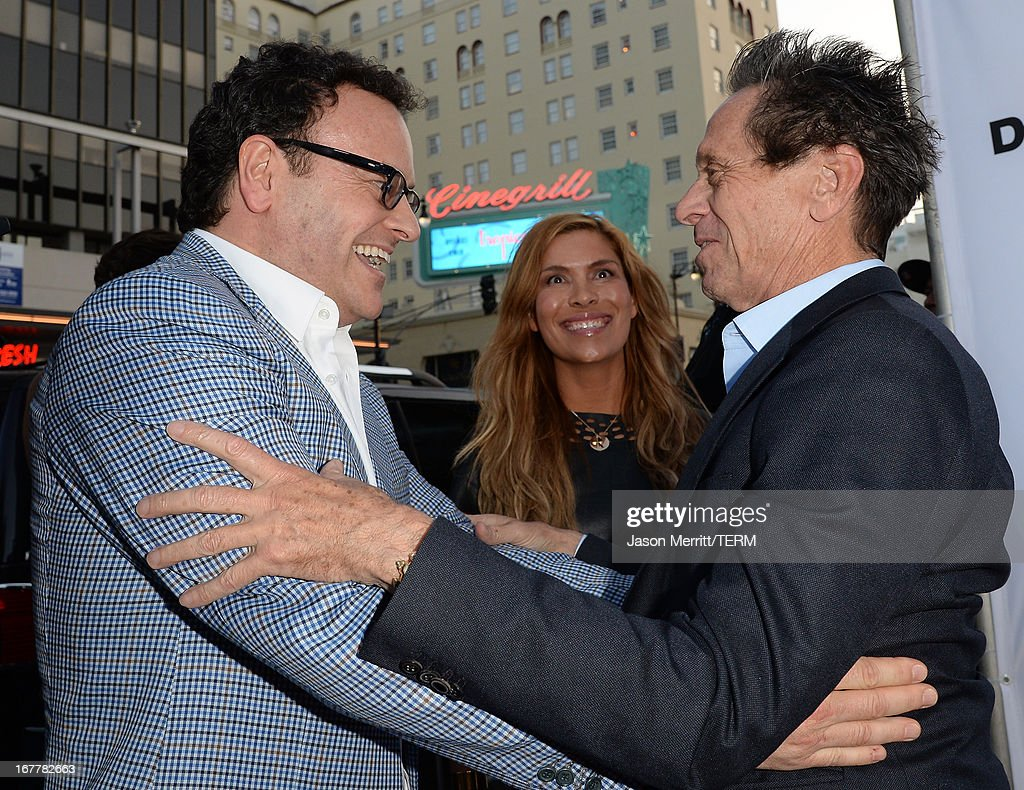 Mitchell Hurwitz and Brian Grazer arrive at the TCL Chinese Theatre for the premiere of Netflix's 'Arrested Development' Season 4 held on April 29, 2013 in Hollywood, California.