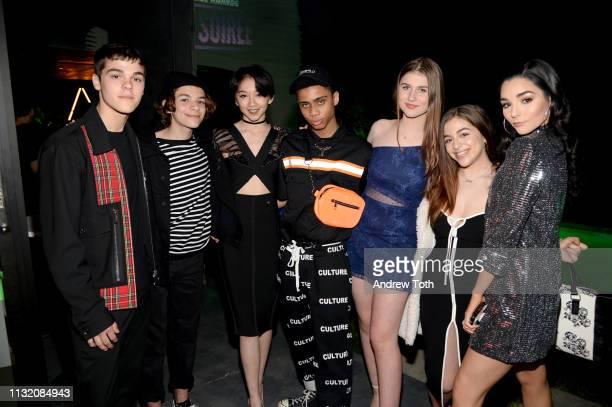 AJ Mitchell Jacob Martin Calhoun Koenig Bryce Xavier Brooke Butler Ariel Martin and Indiana Massara attends the 2019 Nickelodeon Kids' Choice Awards...