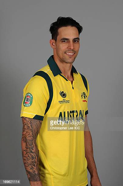 Mitchell Johnson of Australia during the Australia Portrait Session at The St David Hotel on May 29 2013 in Cardiff Wales