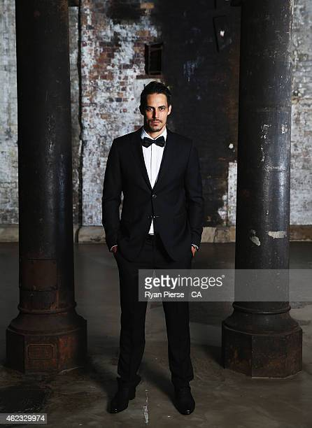 Mitchell Johnson of Australia poses ahead of the 2015 Allan Border Medal at Carriageworks on January 27, 2015 in Sydney, Australia.