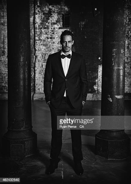 Mitchell Johnson of Australia poses ahead of the 2015 Allan Border Medal at Carriageworks on January 27 2015 in Sydney Australia