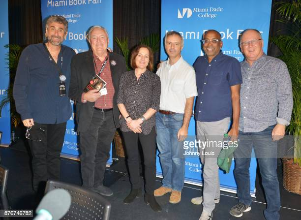 Mitchell Kaplan Les Standiford Paula Mazur Ian Sharples Bharat Nalluri and Robert Mickelson attend The Miami Book Fair at Miami Dade College Wolfson...