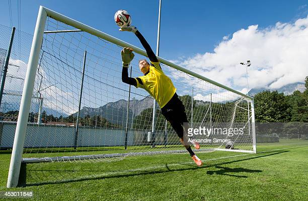 Mitchell Langerak of Borussia Dortmund during a training session in the Borussia Dortmund training camp on July 31, 2014 in Bad Ragaz, Switzerland.