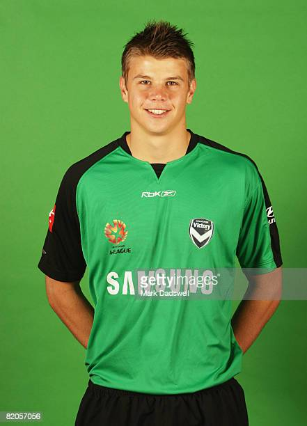 Mitchell Langerak poses during the official Melbourne Victory 2008/2009 Hyundai A-League portrait session at VIS on July 14, 2008 in Melbourne,...