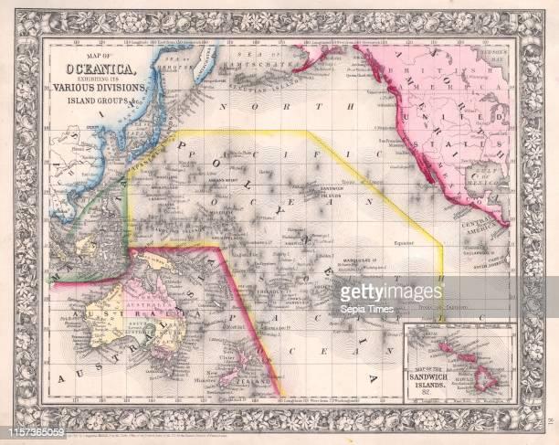 1864 Mitchell Map of Australia and Polynesia